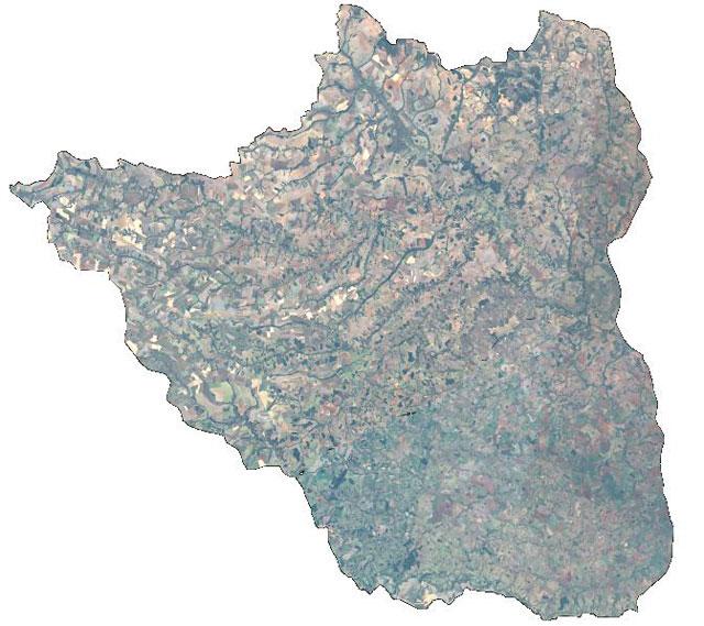 Pesquisa analisou dinâmica da preciptação, vazão e evapotranspiração da bacia do Rio Verde. Crédito: Divulgação