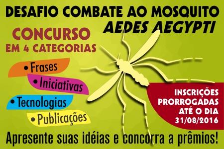 Concurso Desafio Aedes Aegypti Tem Inscrições Prorrogadas Programa